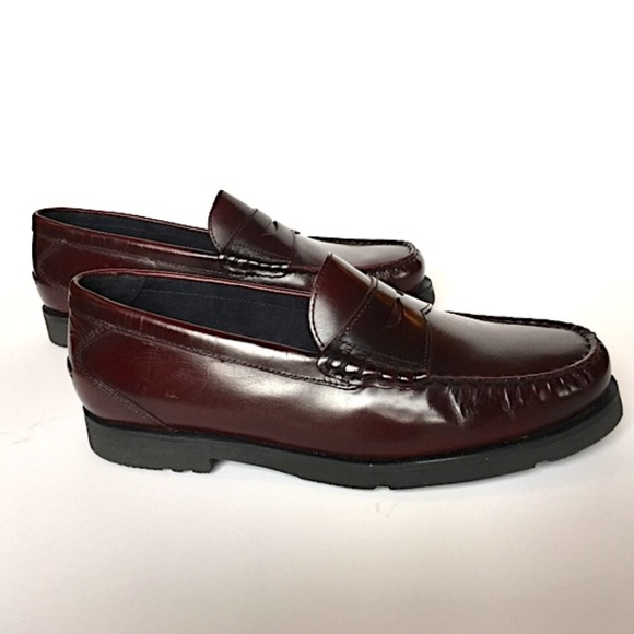 competitive price yet not vulgar huge inventory Rockport burgundy loafers mens 9.5W